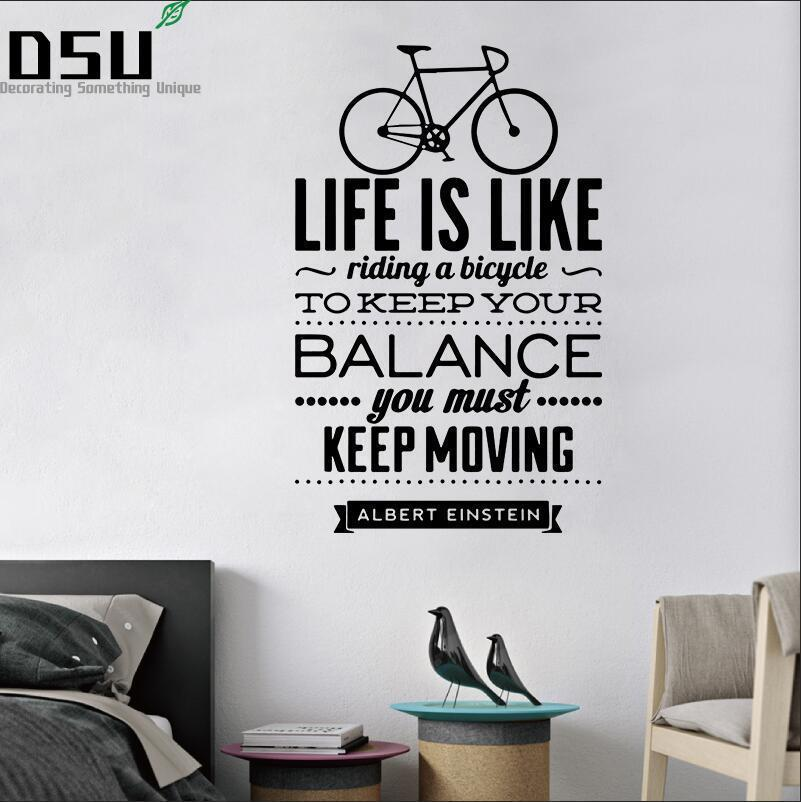 Very Beautiful Home Decoration - Life Is Like Riding A Bicycle Spanish Vinyl Wall Decal Stickers For Living Room Wallpaper