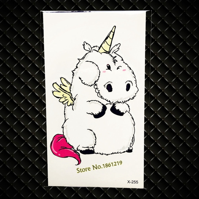 Lovely Cartoon Unicorn Design Temporary Tattoo Children Body Art Waterproof Fake Tattoo Stickers Paper Pastes For Kids Gifts