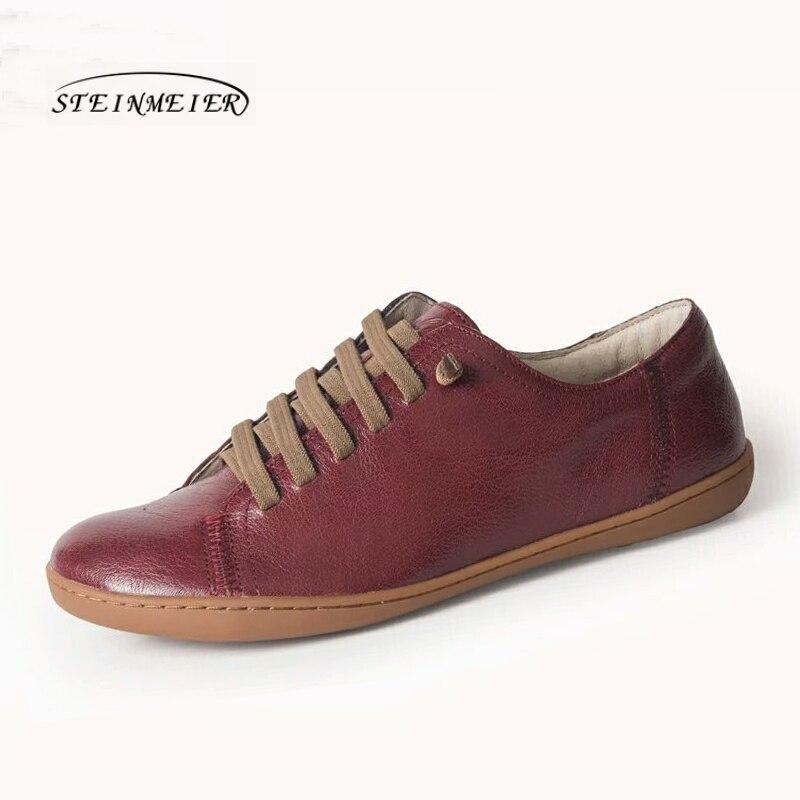 Chaussures d'été femme baleriny sans lacet femme chaussures plates printemps femme cuir décontracté groupe pieds nus chaussures sneakers - 2
