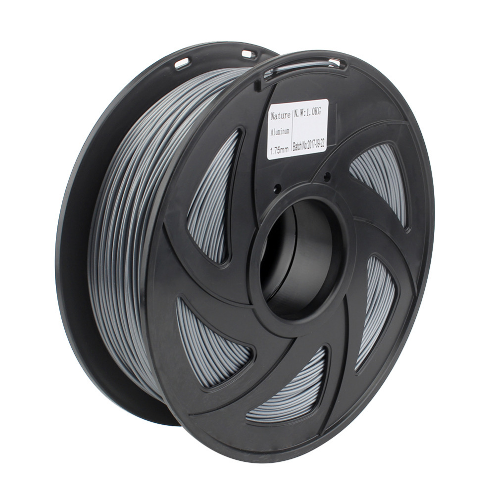 Creozone Premium Qualität 3d Drucker Filament Metall Serie Aluminium Pla Filament 1,75mm 1 Kg Spool Für Prusa I3 Ragrap Diversifiziert In Der Verpackung