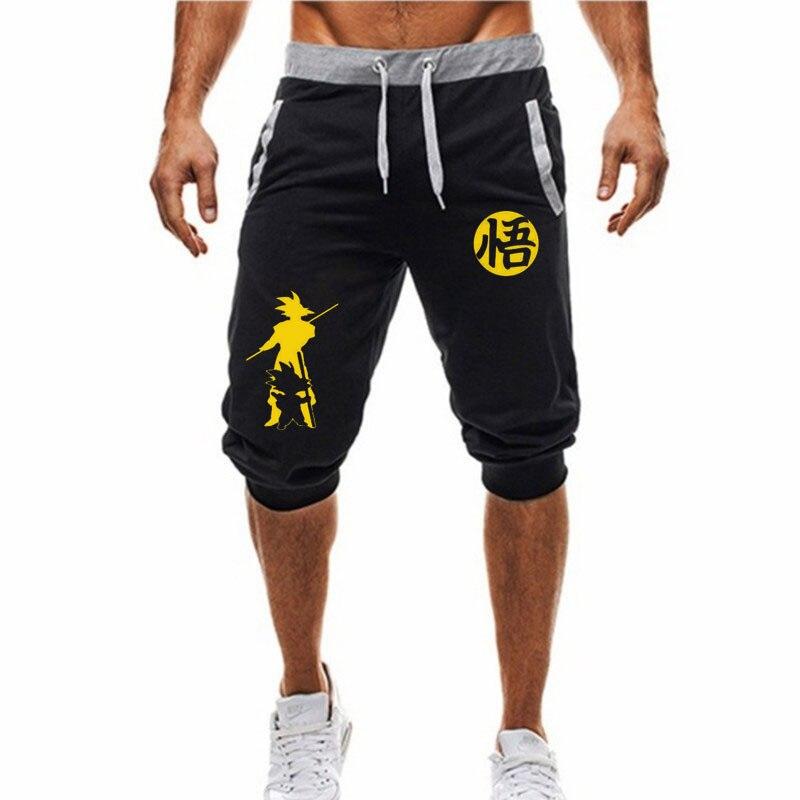 Zogaa Dragon Ball Shorts Gyms Men Joggers Casual Men Sweatpants Bodybuilding Crossfit Slim Sport Shorts Pockets Waistband Shorts
