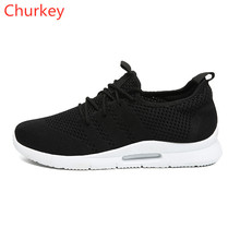 Churkey Men Sports Shoes Mesh Breathable Spring/Autumn Casual Mens Shoes Fashion Comfortable Outdoor Running Male Shoe Sneakers