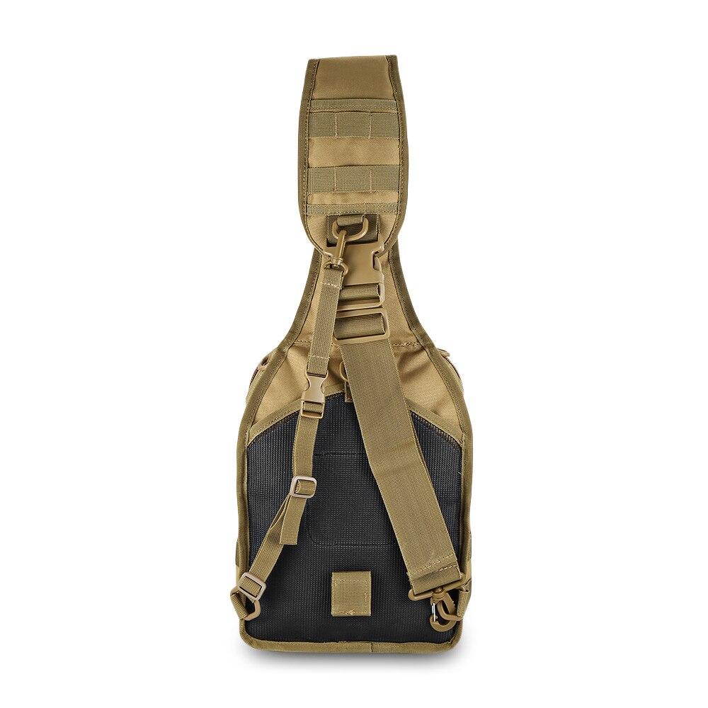 Black Crossbody Spalla Impermeabile Zaino Tessuto Nylon Sling Bag Tattico In Esterno Outlife Militare 600d Brown 480d Duro Sacchetto camel Di Fodera q4nAWUZ