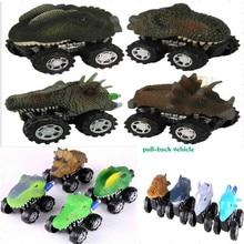 лучшая цена Mini Dinosaur Model Children's Day Gift Toy Dinosaur Model Mini Toy Car Back Of The Car Gift Truck Hobby Fun