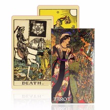 English version smith-waite tarot deck old-fashioned color centennial tarot cards game board game(China)