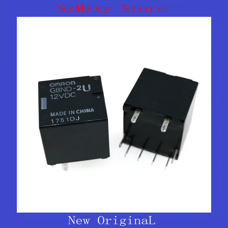 5PCS 10PCS/LOT G8ND NEW Auto Relay G8ND-2U-12VDC G8ND-2U 12VDC 12V DIP8 free shipping 10pcs 1203p100 dip8