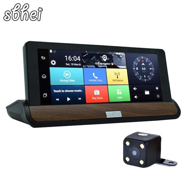 "sbhei 3G 7 "" Car GPS Navigation Bluetooth Android DVR 1GB RAM 16GB ROM Truck vehicle gps navigator navitel with Rear view camera"