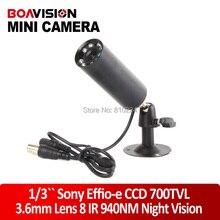 2015 New 1/3 » Sony Effio прибытие-e 700TVL CCD камера пули невидимый 8 шт. ик-940nm 0 lux ночного видения камеры видеонаблюдения