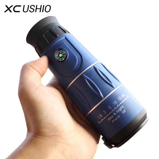 High Clarity FMC Green Film Coating Monocular Telescope 26x52 with Compss for Watching Sport Match Travel Sightseeing 3 Colors