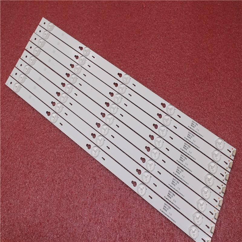 2set=16pieces For TCL B48A558U D48A810 Strip TOT-48D2700-8X5-3030C-V3 YHA-4C-LB4805-YHEX2 TCL D48A810