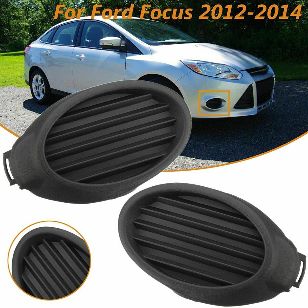 New 2Pcs Chrome ABS Front Fog Light Lamp Cover Trim For Ford Focus 2012 2013
