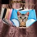 Hot Women Sexy Cute Seamless 3D Cat Printing Underwear Comfort Soft Briefs Panty