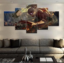 5 Piece Modular Home Decor Wall Art Attack On Titan Paintings on Canvas for Decorations Artwork