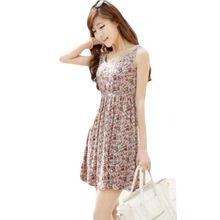 Baskı Elbise Yaz Kızlar Jiaoqiao gevşek rahat Leopar bel Ince Elbiseler Tshirt Yelek Vestido blanco 2015 Yeni Bayan Elbise C600