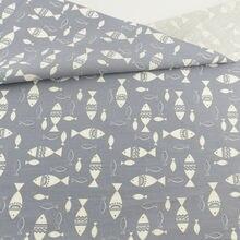 Ткань из хлопка для рыбы серая ткань пэчворка швейная Ремесленная
