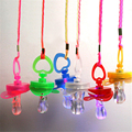 Colorful Pacifiers LED Flashing Baby Pacifier Whistle Party Supplies Funny Toy Survival Tool Flash Glow Sticks Nipples