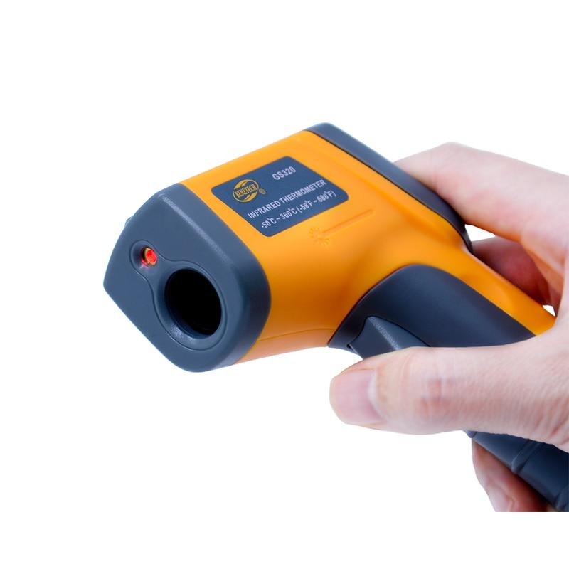 Image 4 - Бесконтактный цифровой лазерный инфракрасный термометр GS320 50 ~  360C ( 58 ~ 680F) температурная пирометр ИК лазерная точка  пистолетpoint gunpyrometer irnon contact -