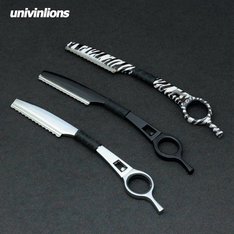 Univinlions Rotary Razor Hair Styling Thinning Razor Hairdressing Scissors Straight Salon Hairdresser Razor Hair Cutter Barber