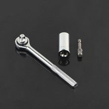 """1/4""""-3/4"""" 7-19mm Universal key impact Wrench Set Hex Allen head hand Tools Kit socket wrench llave carraca D4107"""
