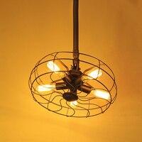 Ретро подвесные светильники промышленные клетка керосиновая лампа hanglampen Лофт свет американский стиль металлический абажур светильники ку