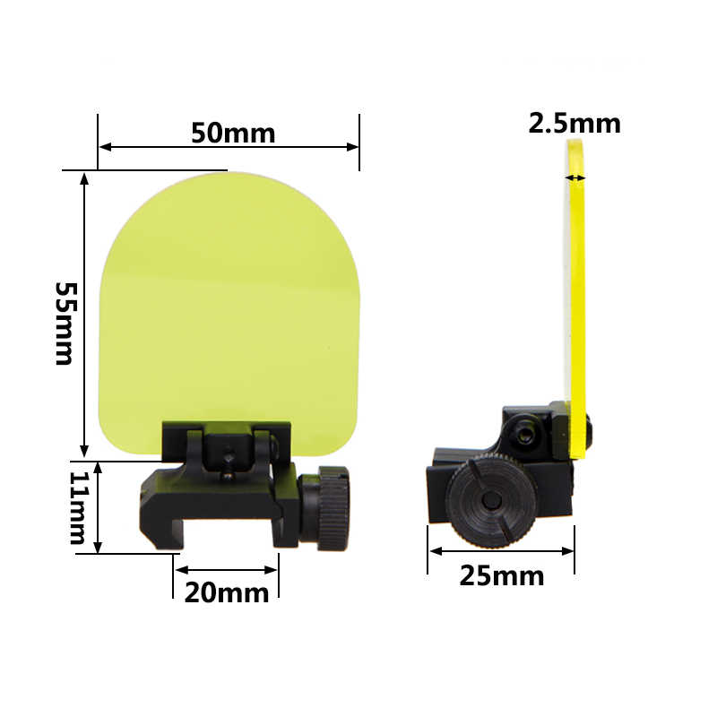 Ronde/Vierkante Opvouwbare Sight Scope Lens Screen Protector Cover Shield Panel 20mm Rail Mount 4 Rifle Airsoft Scope sight Hungting