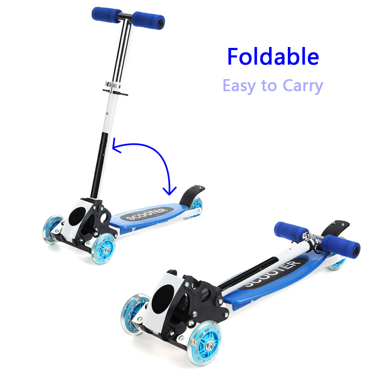 3 Wheels 15km Foldable Aluminum Alloy PU Wheel Anti-Skidding Kick Scooter For Kids Happy Baby Gift Cooler Scooter3 Wheels 15km Foldable Aluminum Alloy PU Wheel Anti-Skidding Kick Scooter For Kids Happy Baby Gift Cooler Scooter
