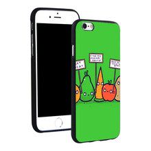 """Funny vegetables """"vegans are evil"""" phone case for iPhone 4 4S 5C 5 SE 5S 6 6S 7 Plus"""