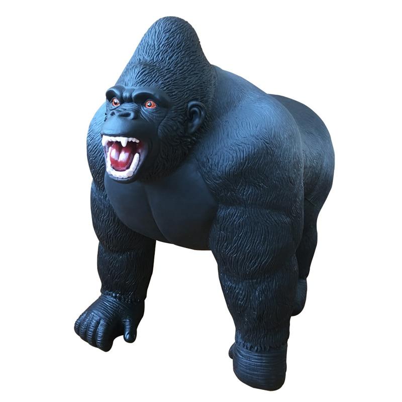 1pc Super Gorillas Model Can Ride Soft Filling Cotton Action Figure Oversized Diamond Simulation Animal Toy Kids Gift #E pvc figure animal simulation model children toy zoo animalsbacking large chimpanzee monkey baboon diamond gift 6monkeys 2trees