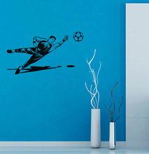 цена Soccer Design Motif Wall Sticker Home Art Wall Decor Wall Decal Vinyl Removable Football Sport Style Wall Decal Y-571