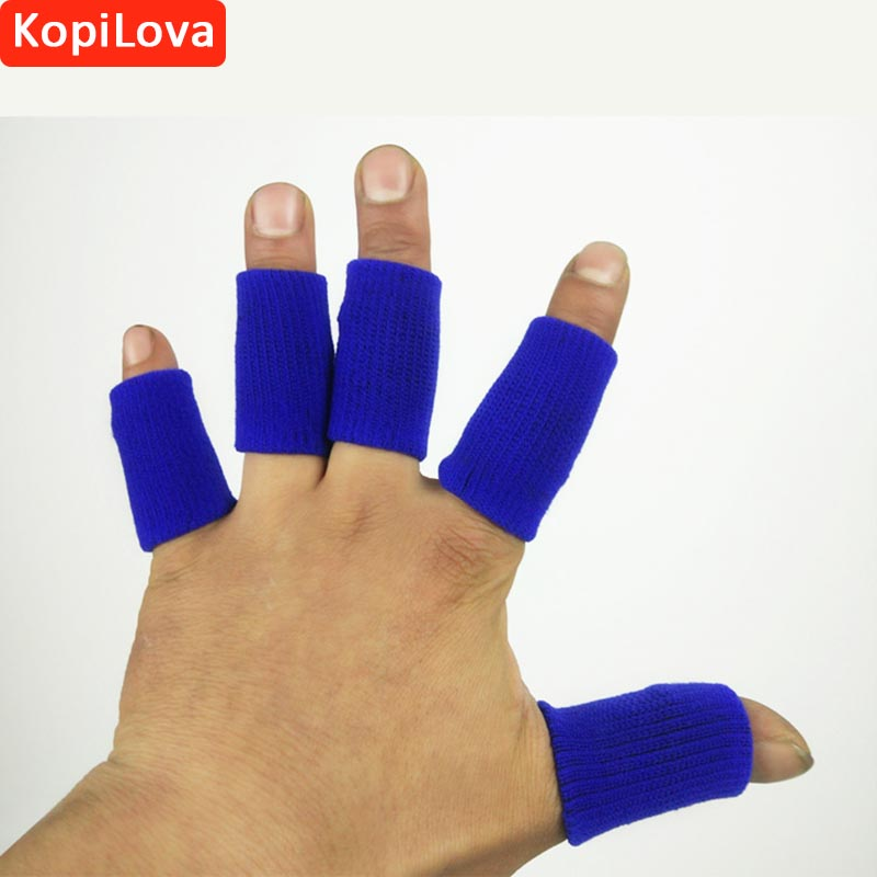 KopiLova 10 packs Sport Protection Finger Cots Anti Slip Fingertips Fingerstall Free Shipping 900pcs cots disposable latex sets rubber non slip labor beauty massage nail profiling tattoo white finger cot