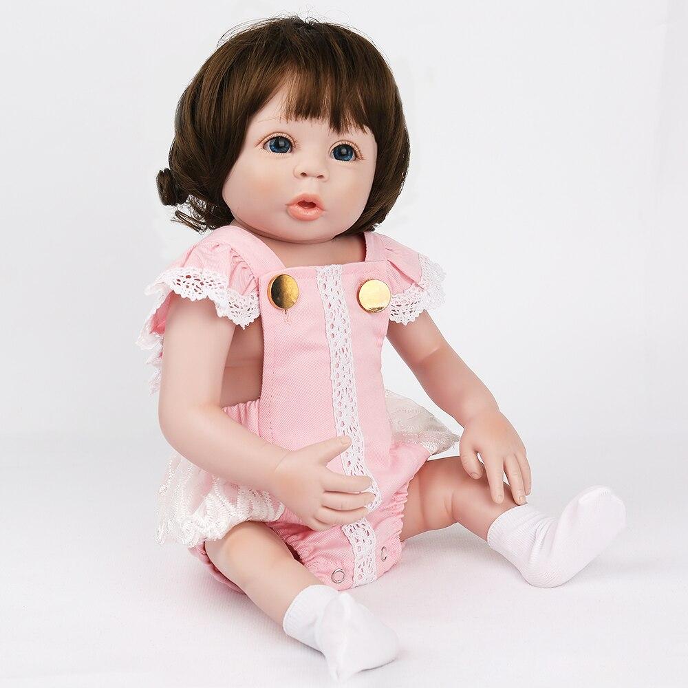KAYDORA Baby Reborn Dolls for Birthday Gifts Toys to Play 19 inch 48cm wigs hair Like Newborn Baby lovely alive bonecas reborn