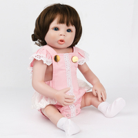 KAYDORA Baby Reborn Dolls for Birthday Gifts Toys to Play 19 inch 48cm wigs hair Like Newborn Baby lovely alive bonecas reborn