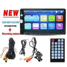 """2 DIN 7 """"Radio de coche Reproductor de HD Cámara de Visión Trasera Bluetooth Estéreo FM MP3 MP4 MP5 Audio Video USB cargador de Electrónica de Automóviles autoradio"""