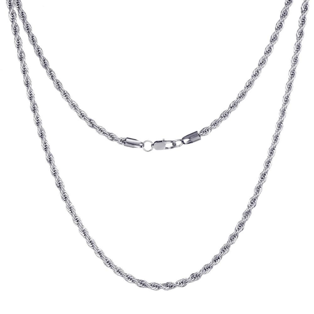 twist necklace silver f