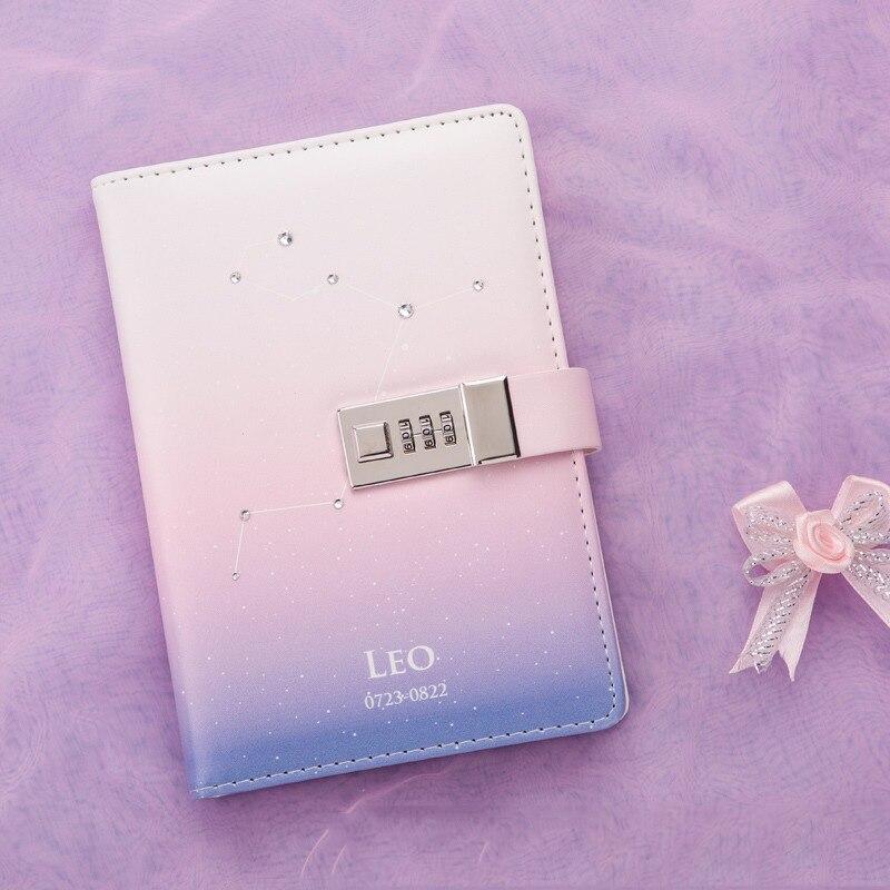 12 Созвездие B6 блокнот с замком пароль студенческий дневник Запираемые блокноты школьные офисные принадлежности BJB52