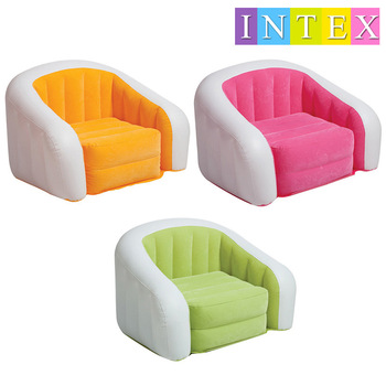 INTEX 68571 97*76*69CM Leisure Inflatable Flocking Sofa Lazy Sofa Stylish And Comfortable Recliner With Electric Pump recliner