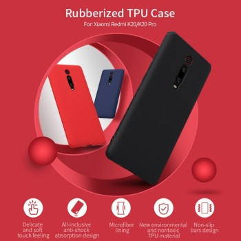 NILLKIN Rubber Wrapped Protective Case For Xiaomi Redmi K20/K20 Pro Mi 9T 9T Pro Slim Soft Liquid Silicone Shockproof Phone Bag 1