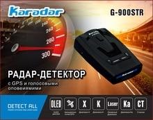 KARADAR 2017 OLED G-900STR Anti Radar Detector de Radar Do Carro GPS Detector de Radar A Laser Carro Strelka Detector Russo Voz