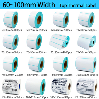 Thermal barcode Sticker, 40mm Core, 1 Roll , Width 60mm ~110mm, Direct Thermal Shipping label for Zebra Godex Gprinter Xprinter thermal barcode sticker 40mm core 1 roll width 60mm 110mm direct thermal shipping label for zebra godex gprinter xprinter