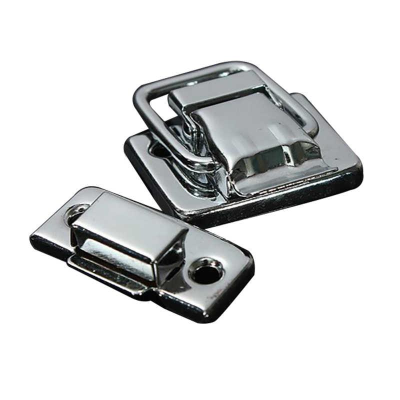 1 Uds. Cierre plateado de aluminio accesorios para cajas de maletas cerradura de maletero accesorios de Hardware cerraduras prácticas 30*36MM