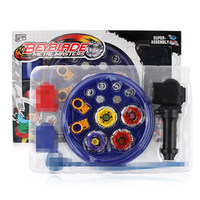 4pcs Set Beyblade Set With Plastic Launcher Metal Fusion 4D Spinning Top Toys For Kids E