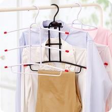 Iron Hangers Multilayer Multi Magic Drying Non Slip Hanger Fishbone Type Clothes Hanging Wardrobe
