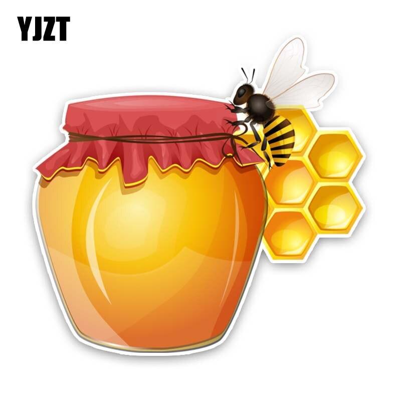 YJZT 15.6CM*15.1CM Honey Bees Make Honey PVC Decal Car Sticker 12-300829