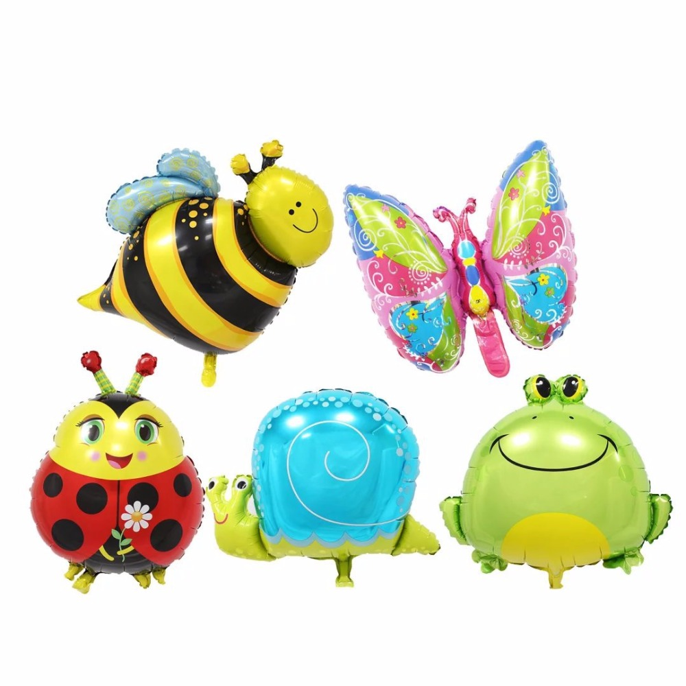 5pcs Mini animal foil balloons birthday party decorations kids air balloons Inflatable toys baby shower party decoration ballons