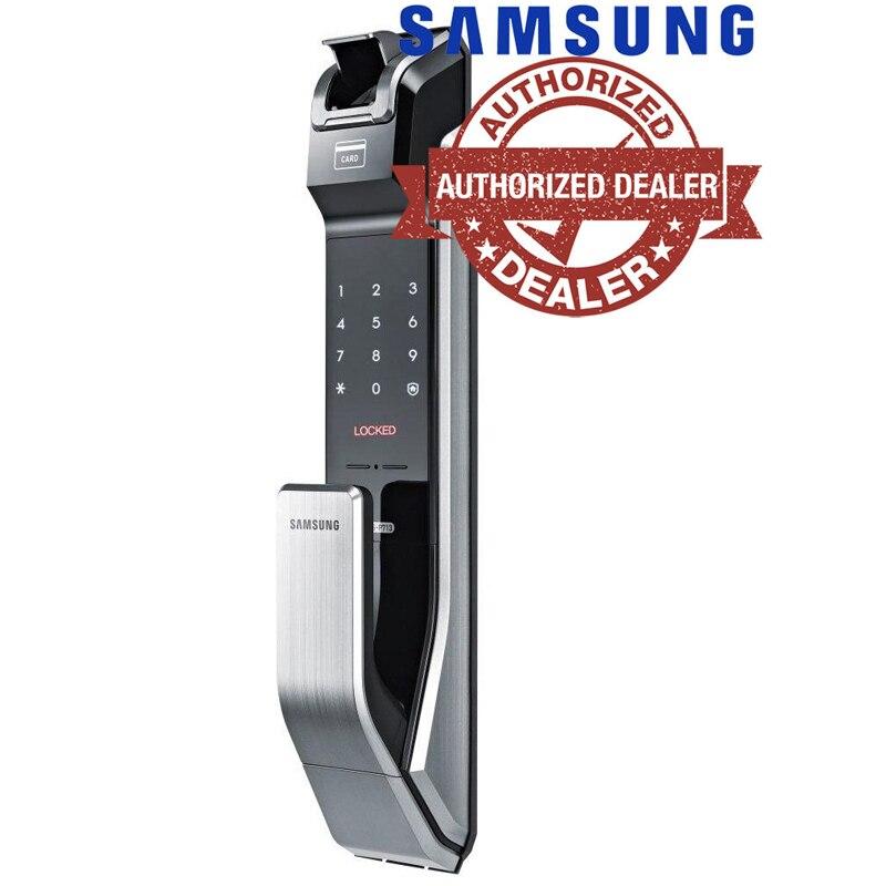 Samsung SHS-P718 Anti-fingerprit Numérique Serrure De Porte Push Pull ANGLAIS Version Grand Mortaise Argent Couleur Promotion