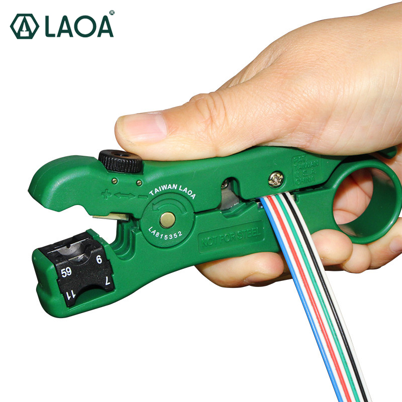 LAOA Multifunction Wire Stripper Coaxial RG59,6,7,11 Blade replaceable Wire Cutter Made in Taiwan Mini Hand Tools ly05h 5a2 mini combination tools pack for coaxial cable and wire in plastic box