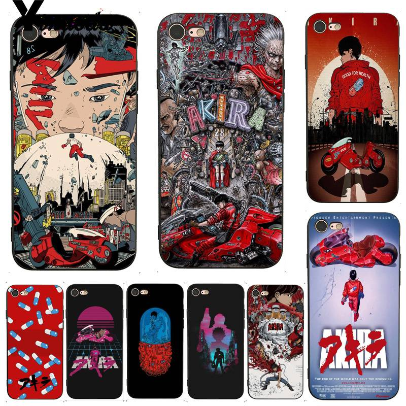 Yinuoda For iPhone 7 6 X Case Japanese Anime Akira 1988 Film Luxury Coque Shell Phone Case for iPhone 7 X 6 6S 8 Plus 5 5S XS XR