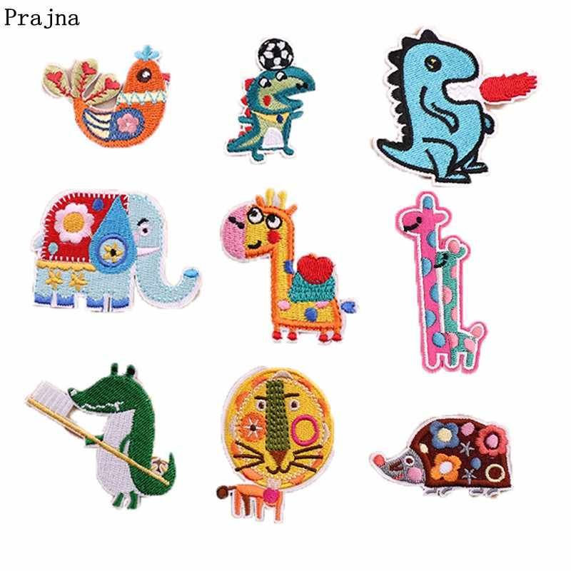 Prajna Embroidery Patches Elephants Hippo Stickers For Baby Clothes Accessories Cartoon Embroidery patch In Patches DIY Kids Bag