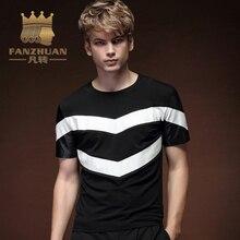 FANZHUAN Brands Clothing T Shirt Men 2018 New Arrival Summer Fashion Short-sleeved Slim Men T-shirt Casual T-shirts Tops Tees
