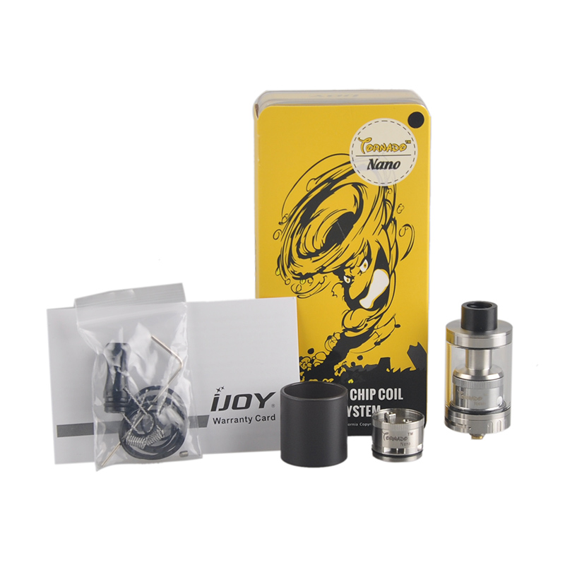 Electronic Cigarette Atomizers 3pcs Ijoy Tornado Rdta Tank High Quality Replacement Glass Tube With Free Shipping We Take Customers As Our Gods
